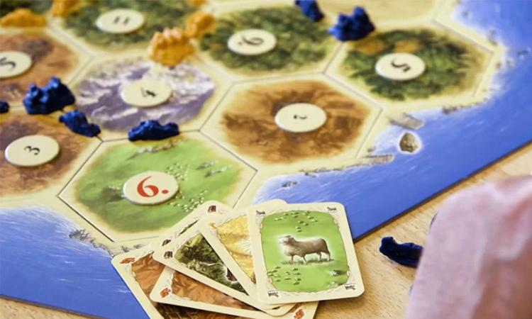 Imagen del Tablero del juego de Catan