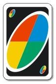 Carta de elección de colores del juego de mesa UNO